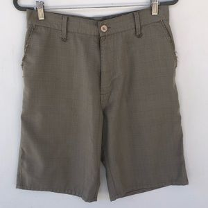 Men's Hurley tan plaid shorts